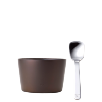 Ice Cream Holder&Spoon chocolate